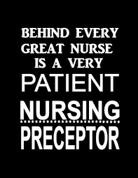 very patient nursing preceptor
