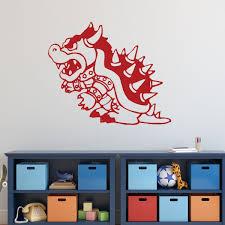 Super Mario Bros Wall Decor Bowser Vinyl Wall Decal For Boys Room Customvinyldecor Com