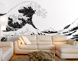 Japanese Vinyl Wall Decals Sticker Katsushika Hokusai Great Wave Off Kanagawa Views Of Mount Fuji Art Stickers Large Size Zb509 Wall Decals Stickers Vinyl Walldecal Sticker Aliexpress