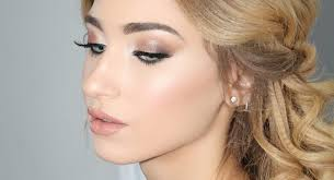 flawless natural glam makeup and half
