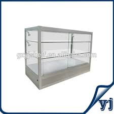 wall mounted glass display cases metal