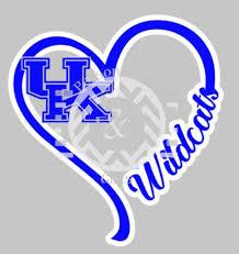I Heart Car Decal Uk Kentucky Wildcats Window Decal Kentucky Wildcats Football Kentucky Wildcats Wild Cats