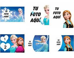 Marcos Y Fotomontajes De La Pelicula Frozen Fotoefectos