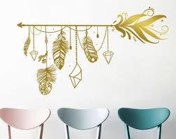 Feather Wall Decal Etsy