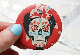 day of the dead pocket mirror mexico
