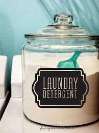 Laundry Detergent Decal Laundry Room Soap Powder Container Etsy Liquid Laundry Soap Laundry Decor Laundry Soap