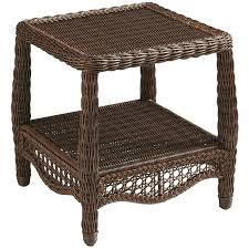 sunset pier chestnut brown end table by