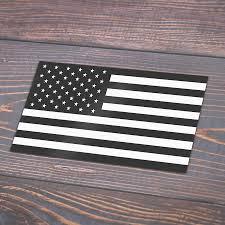 Black American Flag Sticker 4 X7 Cuadgraphics Products