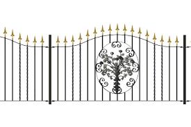 Metal Railing Panels Iron Decorative Flower Panel Tailored Sizes Bespoke Gates And Railings