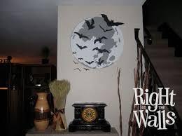 Moon Bats Halloween Wall Decals Vinyl Art Stickers