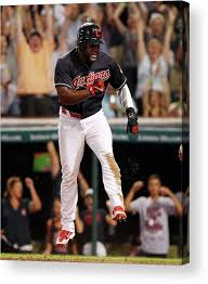 Abraham Almonte and Tyler Naquin Acrylic Print by David Maxwell