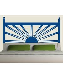 Get Ahold Of Fantastic Deals On Sunrise Headboard Vinyl Wall Decal Eyval Decal Color Dark Blue Size King