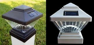 Lot Of 2 Solar Mission Stained Glass Post Cap Lights 4 X4 Deck Fence Top For Sale Online Ebay