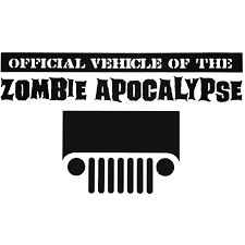 Official Vehicle Of The Zombie Response Jeep Vinyl Decal Sticker