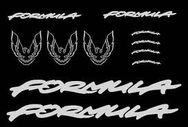 Pontiac Firebird Stickers Formula Decal Kit 11 Pieces Gm Licensed Seller Pontiac Firebird Pontiac Firebird