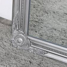 silver wall mountable ornate mirror