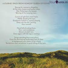 a journey back from home quotes writings by tanushree