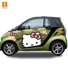 Anime Car Pull Flowers Stickers For Smart Car Car Body View Stickers For Toy Cars Tongjie Product Details From Tongjie Image Kunshan Co Ltd On Alibaba Com