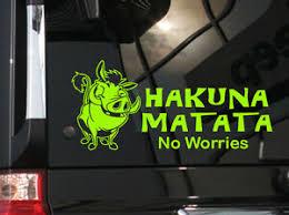 Hakuna Matata Cute Vinyl Car Decal Sticker 8 5 Width W Lion King Character Ebay