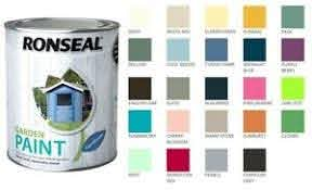 Ronseal Outdoor Garden Paint For Exterior Wood Metal Stone Brick All Colours Ebay
