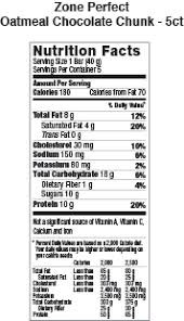 perfect bar nutrition facts