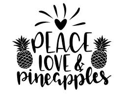 Pineapple Decal Peace Love Pineapples Pineapple Car Decal Etsy