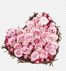روز الحب يوم الحب زهرة القلب باقة على شكل قلب من الورود الوردية