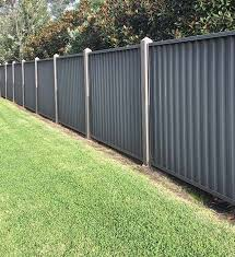 Colorbond Fencing With Gates Fence Installation Cost Fence Design Corrugated Metal Fence