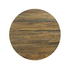 reclaimed elm wood round dining table