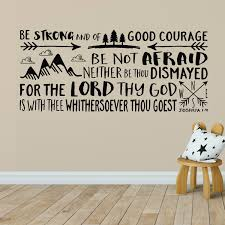 Joshua 1v9 Kjv Vinyl Wall Decal 32 Be Strong And Of Good Courage