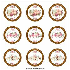 Free Printable Vintage Floral Birthday Party Kits Templates To