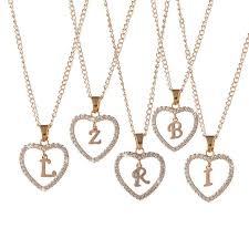 whole love heart pendant necklace