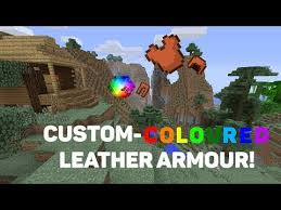 how to make custom coloured armour in