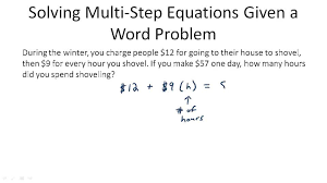 multi step equations ck 12 foundation