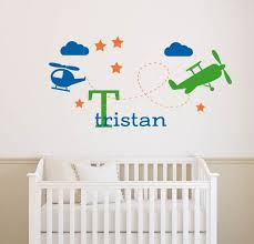 Airplane Wall Decal Helicopter Wall Decal Cloud Wall Decal Etsy