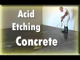 preparing concrete for acid
