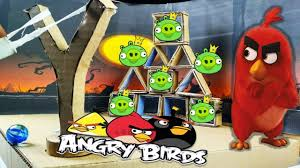 DIY Real Life Angry Birds Gameplay