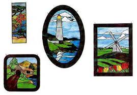 lighthouse stained glass patterns