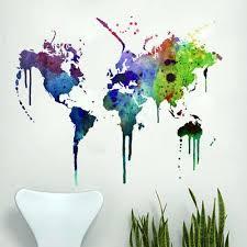 Graffiti Travel Decals World Map Wall Decal Wall Stickers World Map Map Wall Decal
