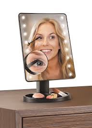 ideaworks light up mirror large 16 led