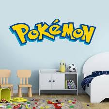 New Pokemon Wall Art Sticker Mural Decals Living Room Decor Diy Vinyl Removable Geek