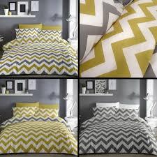 6pc grey white zig zag bedding set