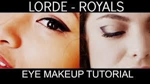 lorde royals inspired eye makeup