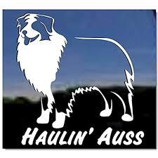 Amazon Com Haulin Auss Australian Shepherd Dog Vinyl Window Decal Kitchen Dining