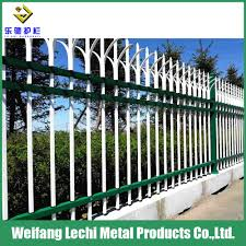 China Modern Design Hot Dipped Galvanized Steel Metal Grill Fence For Garden Factory Farm China Fencing Steel Fencing