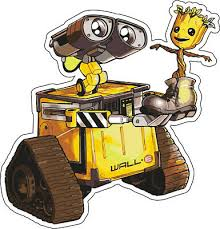 Wall E I Am Groot Best Friends Disney Vinyl Decal Room Decor Laptop Sticker 4 99 Picclick