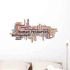 Amazon Com Wallmonkeys Human Resources Wordcloud Wall Decal Peel And Stick Business Graphics 36 In W X 18 In H Wm69825 Furniture Decor