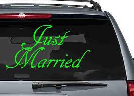 Just Married Vinyl Decal Diy Wedding Just Married Vinyl Etsy
