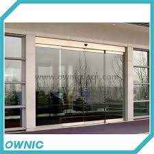 automatic framless sliding glass door