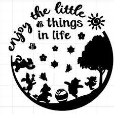 Winnie The Pooh Friends Inspirational Vinyl Decal Sticker Ebay